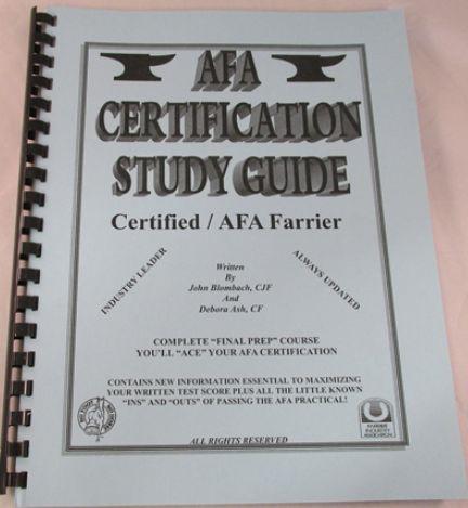 AFA Certification Study Guide - Certified / AFA Farrier