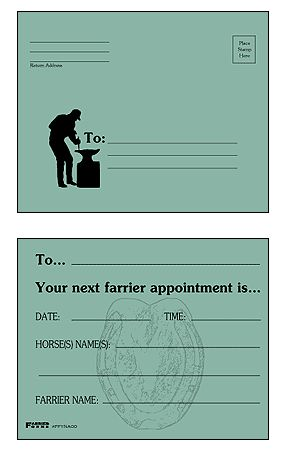 Farrier Form Appointment Cards