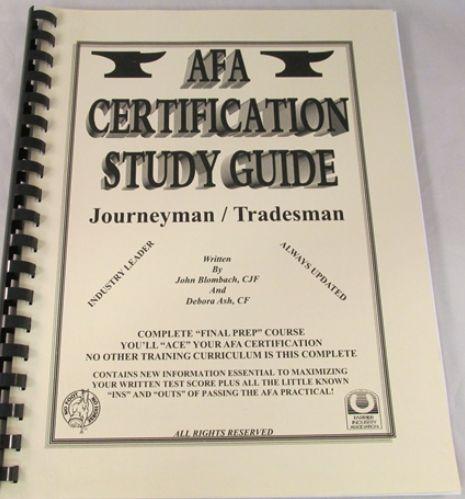 AFA Certification Study Guide - Journeyman / Tradesman