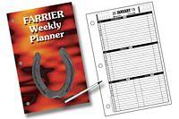 Farrier Form Organizer Calendar Refill